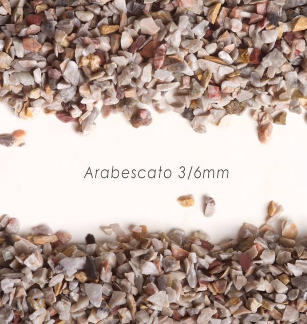 Štrk Arabescato 3/6mm pre štrkový koberec - 25kg