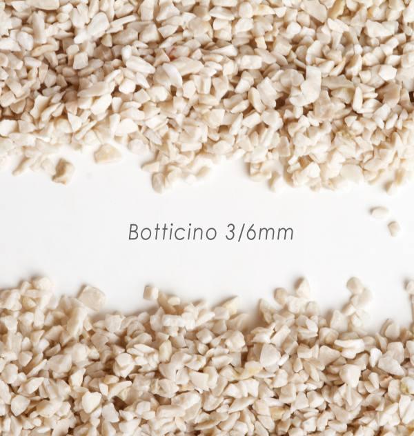 Štrk Botticino 3/6mm pre štrkový koberec - 25kg