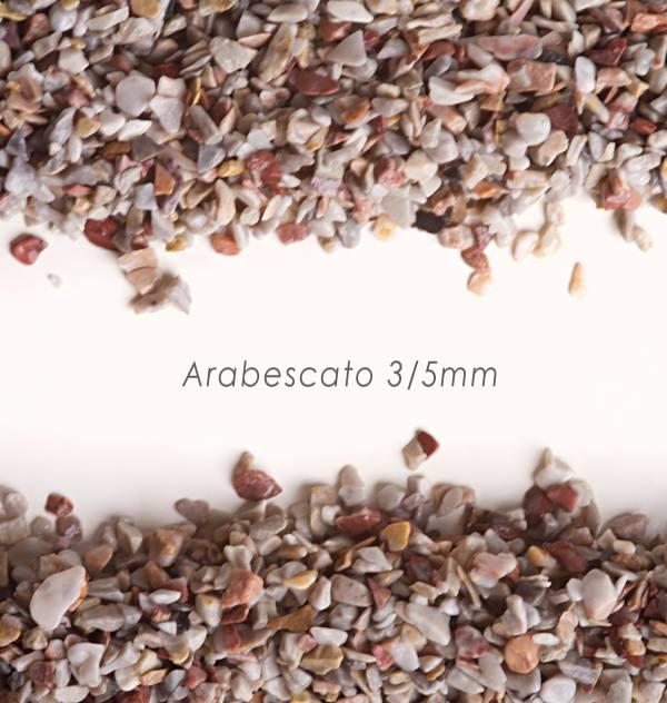 Okrúhliak Arabescato 3/5mm pre kamenné koberce - 25kg