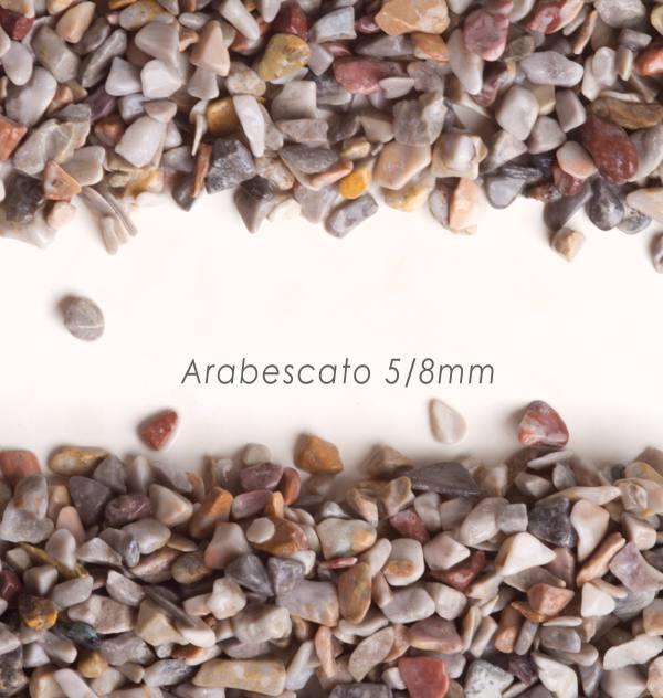 Okrúhliak Arabescato 5/8mm pre kamenné koberce - 25kg