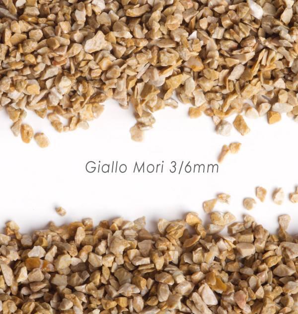 Štrk Giallo Mori 3/6mm pre štrkový koberec - 25kg
