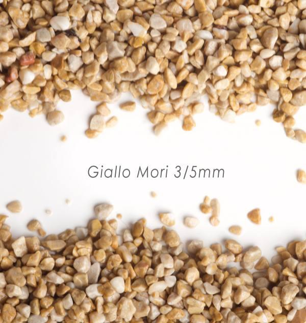 Okrúhliak Giallo Mori 3/5mm pre kamienkový koberec - 25kg