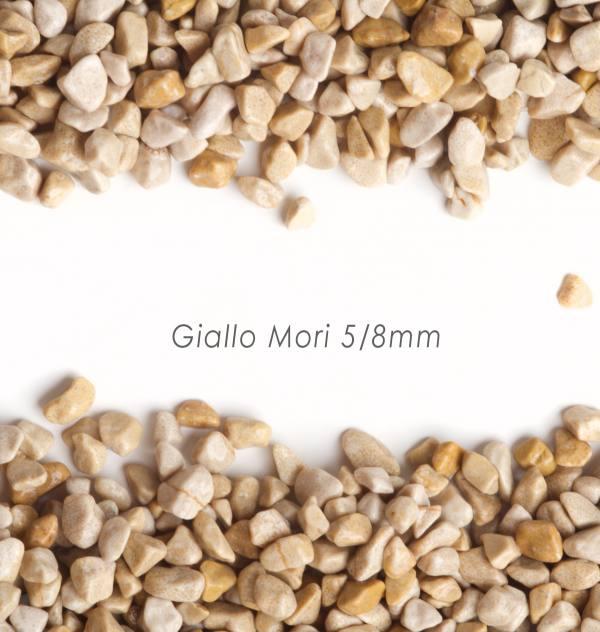 Okrúhliak Giallo Mori 5/8mm pre kamienkový koberec - 25kg