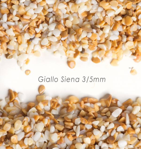 Okrúhliak Giallo Siena 3/5mm pre kamienkový koberec - 25kg