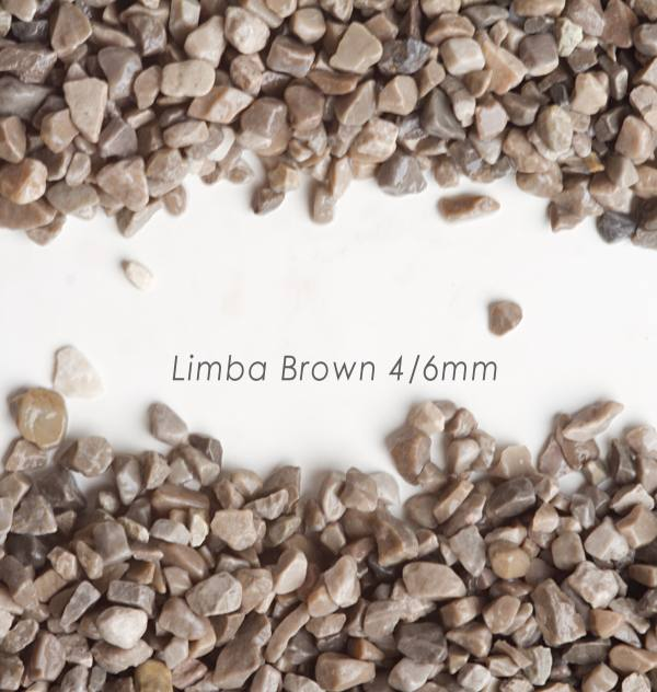 Okrúhliak Limba Brown 4/8mm pre kamienkový koberec - 25kg