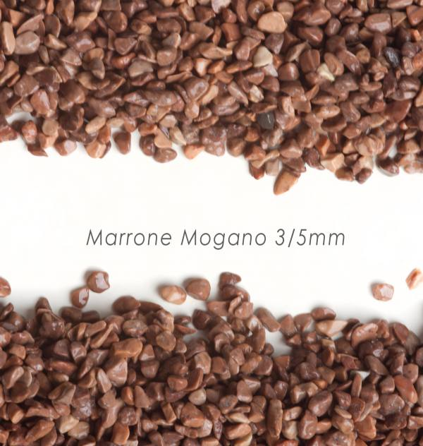 Okrúhliak Mogano 3/5mm pre kamienkový koberec - 25kg