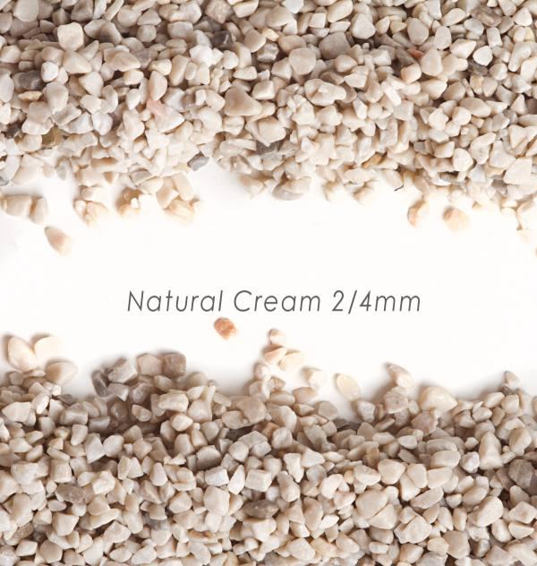 Okrúhliak Natural Cream 2/4mm pre kamienkový koberec - 25kg