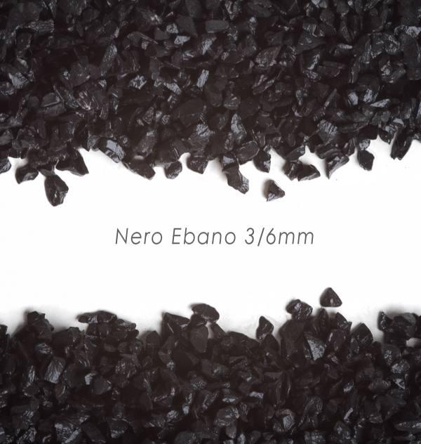 Štrk Nero Ebano 3/6mm pre štrkový koberec - 25kg