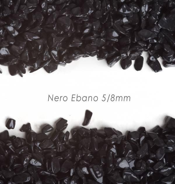 Okrúhliak Nero Ebano 5/8mm pre kamenný koberec - 25kg