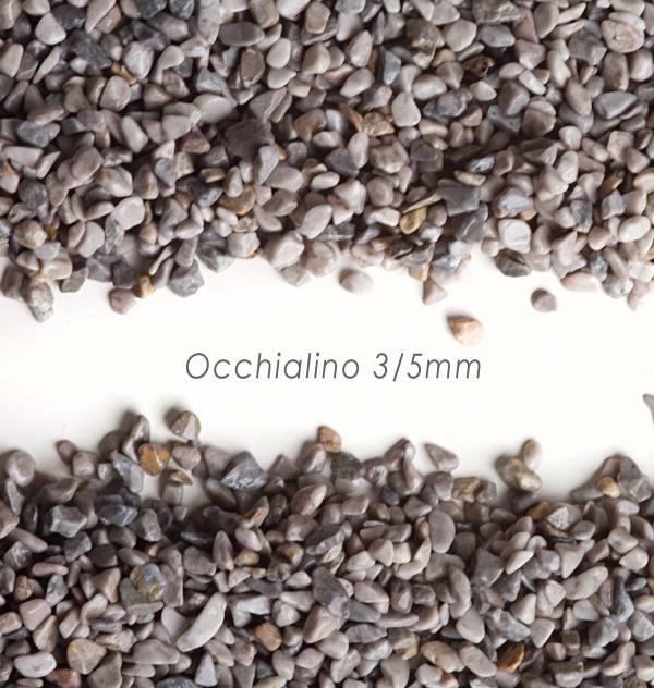 Okrúhliak Occhialino 3/5mm pre kamenný koberec - 25kg
