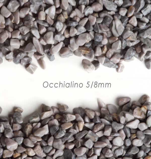 Okrúhliak Occhialino 5/8mm pre kamenný koberec - 25kg