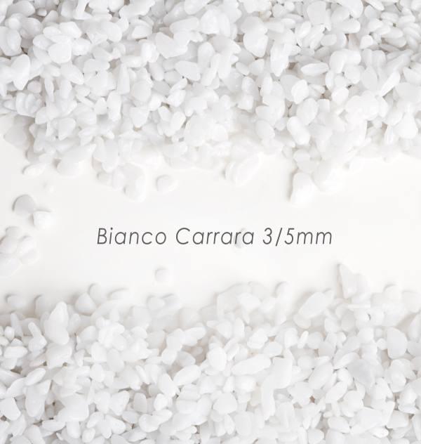 Okrúhliak Bianco 3/5mm pre kamenný koberec - 25kg
